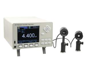 2936-r optical power and energy meter with two detector, sensor heads attached