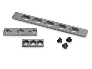 ez track 19 mm dovetail optical rails with 3 optical rail sizes shown