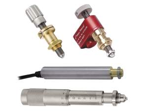 selection of manual adjusters and motorized actuators used for positioning