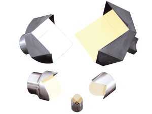 set of replicated hollow metal retroreflectors fabricated from solid aluminum
