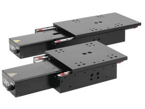 precision linear stages model gts70 stage and gts150 stage shown