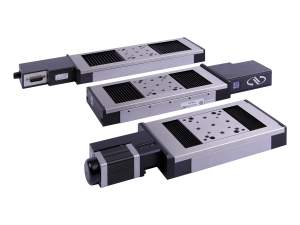 uts series mid-travel steel construction motorized linear stages