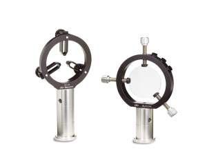 2 common optical axis variable size lens mounts are shown