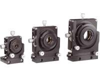 3 sizes of precision multi-axis lens positioners shown