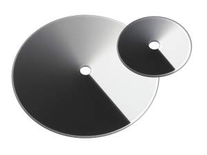 circular variable neutral density filters with 2 nd filter sizes shown