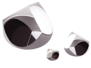 Solid glass retroreflectors - corner cubes