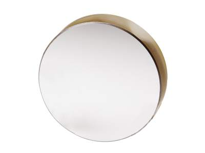 large diameter pinhole free optical mirror