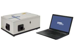 MIR8035 ftir spectrometer scanner shown with laptop