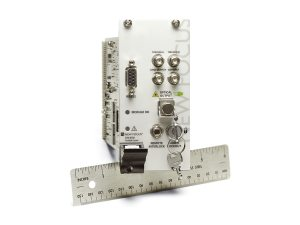 oem swept-wavelength wide tuning laser module shown with ruler